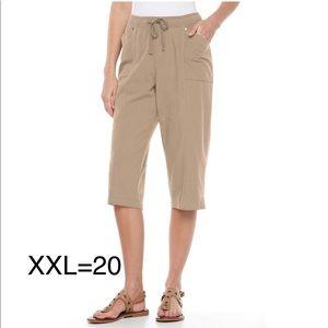 Plus Size CROFT & BARROW Pull-On Capri Pants